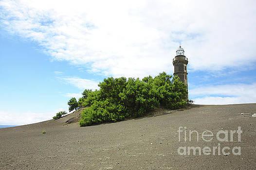 Lava landscape lighthouse by Jan Brons