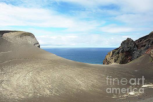 Lava landscape ocean view by Jan Brons