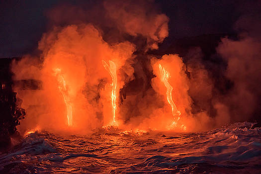 Lava Meets Ocean by Greg Vaughn