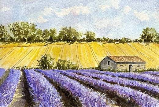 Lavender and Gold by Frances Evans