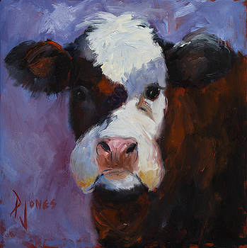 Lavender Cow by Paula Jones