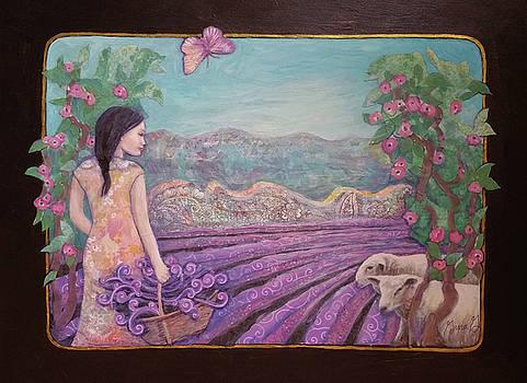 Lavender Harvest with Friends by Gina Grundemann