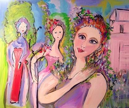 Lavender ladies fragrantly smile  by Judith Desrosiers