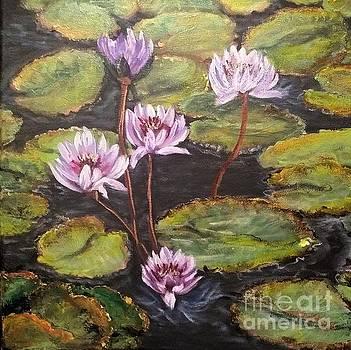 Lavender Lilies by Katie Adkins