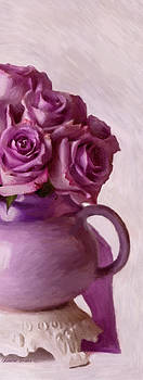 Sandra Foster - Lavender Roses And Tea Pot