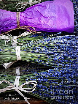 Lavender Tied With A Bow by Lainie Wrightson