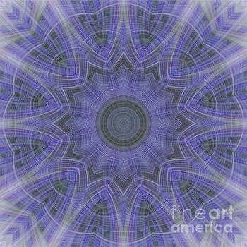 Lavender Twirl Kaleido by Elaine Teague