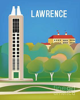 Lawrence, Kansas Vertical Scene by Karen Young