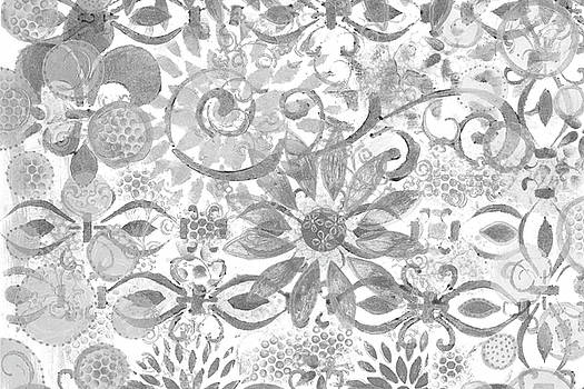 Layer Upon Layer # 2 - Black And White by Sandra Foster