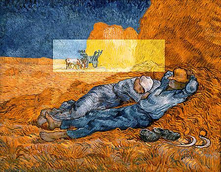 Layered 14 van Gogh by David Bridburg