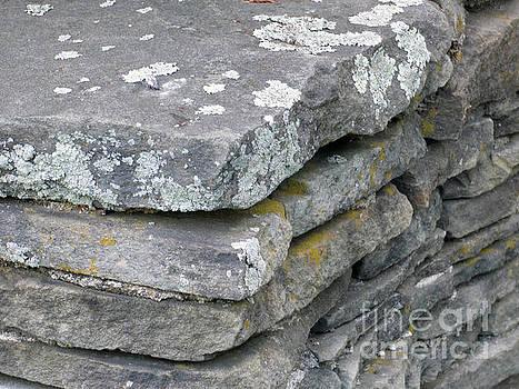 Layered Rock Wall by Leara Nicole Morris-Clark