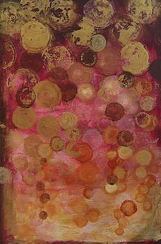 Layers of Circles on Red by Kristen Abrahamson