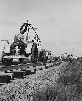 Chicago and North Western Historical Society - Laying Down Rail - 1957