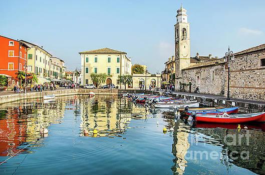 Lazise Lago di Garda Verona Veneto Italy by Luca Lorenzelli