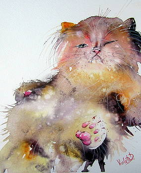 Lazy Sunday Meow by Violeta Damjanovic-Behrendt