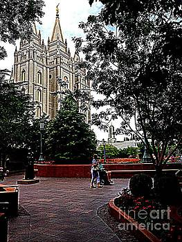 Mormon Salt Lake Temple and Conference Center by Richard W Linford