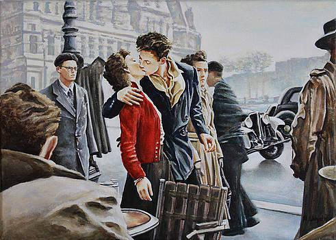 Le Baiser de l'Hotel de Ville, 2015 by Andy Lloyd