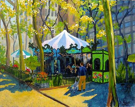 Le Carrousel in Bryant Park by Diane Arlitt