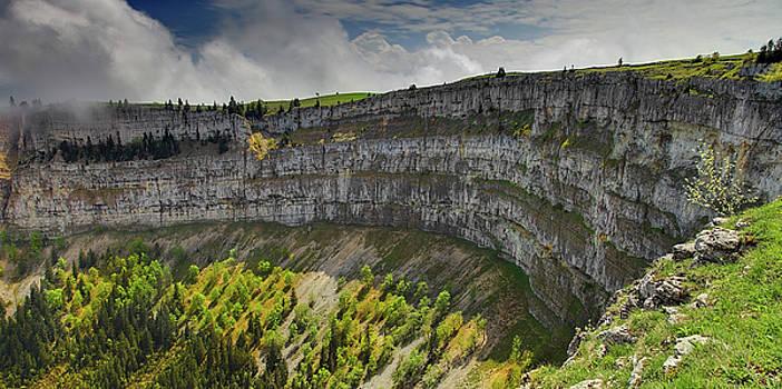 Le Creux du Van near Neuchatel, Switzerland by Martin Wackenhut