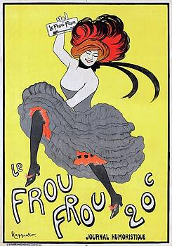 Le Frou Frou journal humoristique poster 1899 by Vintage Printery