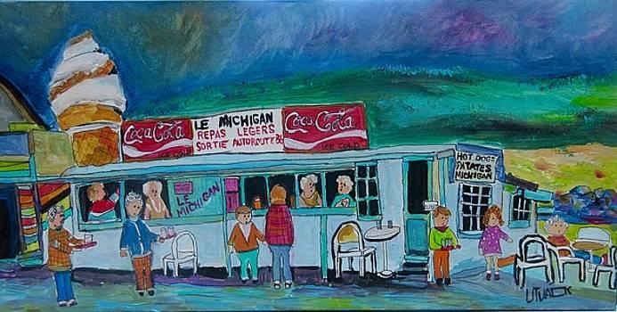 Le Michigan Route 11 St. Agathe. by Michael Litvack
