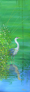 Le Petit Trianon Heron by Maryann Boysen