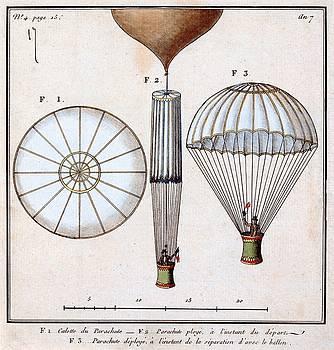 Le premier parachute de Jacques Garnerin, ca. 1799 by Vintage Printery