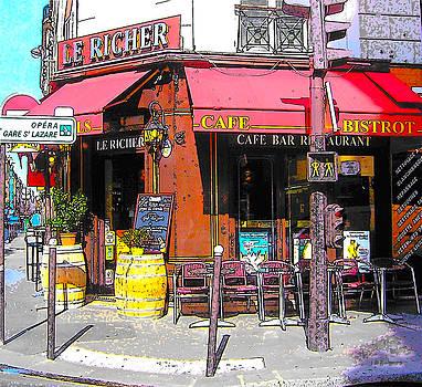 Jan Matson - Le Richer cafe bar in Paris