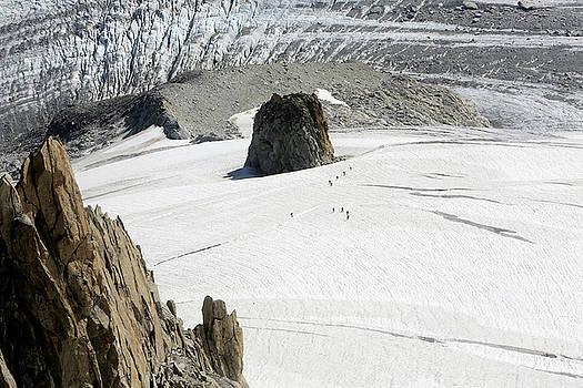 Le Rognon Glacier D'argentiere Vue Depuis L'aiguille Des Grands Montets Argentiere Haute Savoie by Catherine Leblanc