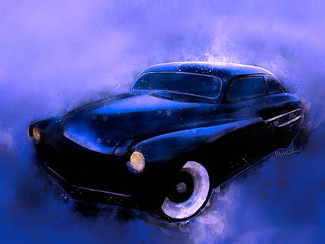 Lead Sled 51 Mercury Watercolour Illustration by Chas Sinklier