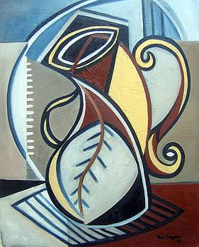 Leaf Vase by Martel Chapman