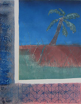 Leaning Palm by Libby  Cagle