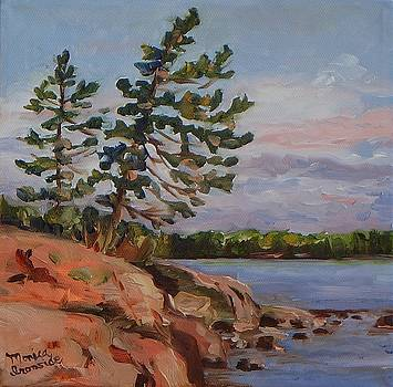 Leaning Pine at Dusk by Monica Ironside