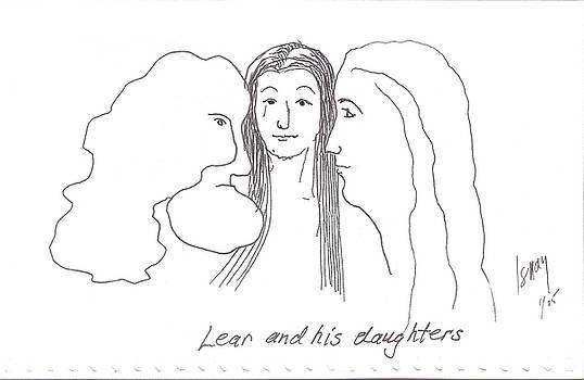 Lear and His Daughters by Rod Ismay