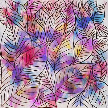 Leaves Colorful Abstract Design by Gabriella Weninger - David