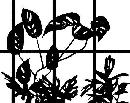 Leaves in Window by Nikolyn McDonald