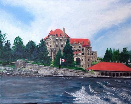 Leaving Dark Island, Singer Castle by Joel Charles