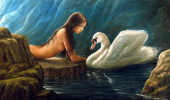 Leda and the Swan - Platonic by Giovanni Rapiti