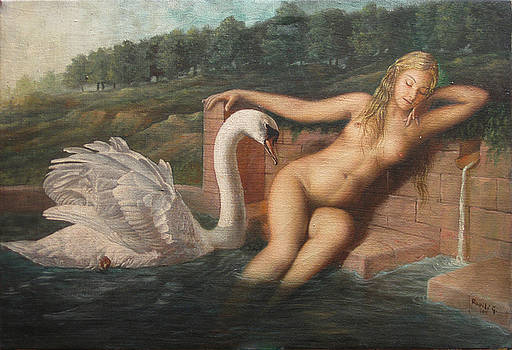 Leda and the Swan - Courtship by Giovanni Rapiti