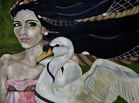 Leda and the Swan by Victoria Dietz