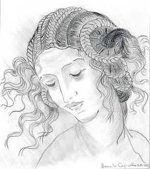 Leda of Leonardo Da Vinci by Bernardo Capicotto
