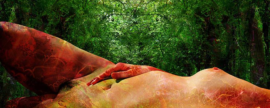 Leda Waiting For The Swan_right Leg by Paul Pinzarrone