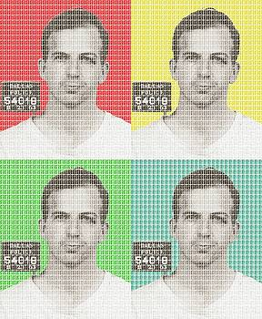 Lee Harvey Oswald Mug Shot x 4 by Gary Hogben
