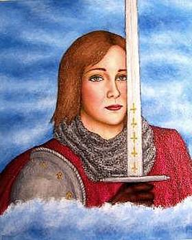 Leelee Sobieski As Joan Of Arc by Stephen Warde Anderson