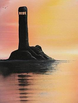 Lee's Lighthouse by Donna Jeanne  Carver