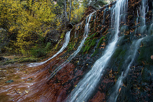 Left Fork Waterfall by Wesley Aston
