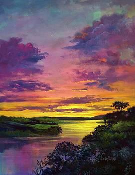 Legend Of A Sunset  by Randy Burns
