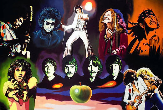 Legends Of Rock by Hector Monroy