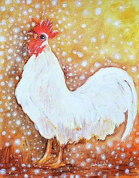 Leghorn Rooster Do The Funky Chicken by Ashleigh Dyan Bayer