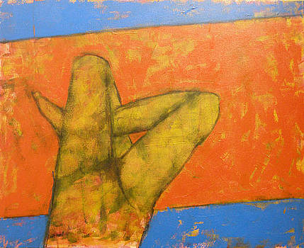 Legs on Blue and Orange by Alexander Motyl